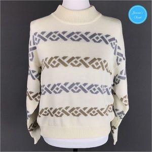 Vintage rrrrruss Knit Wool Blend Ski Sweater